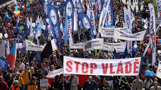 Poslední velké demonstrace odborářů zažilo Česko před šesti roky