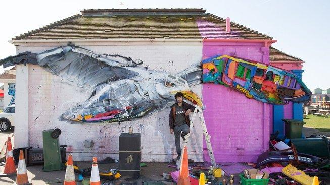 Portugalský umělec Bordalo II tvoří z odpadků umělecká díla s ekologickým přesahem
