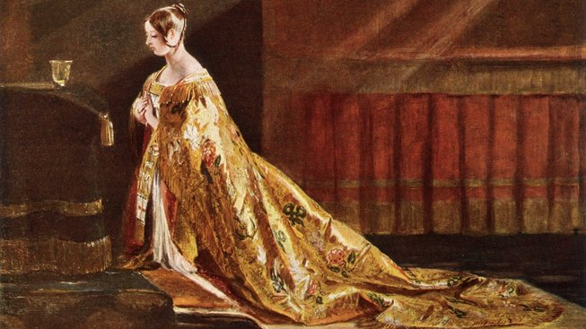 Královna Viktorie při své korunovací