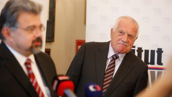 Jiří Weigl a Václav Klaus