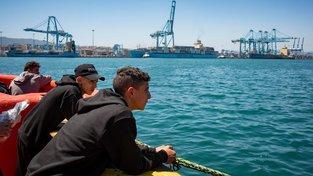 Migranti připlouvající do Evropy