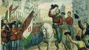 Příjezd Giuseppa Garibaldiho do Neapole