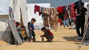 Děti ze Sýrie v uprchlickém táboře