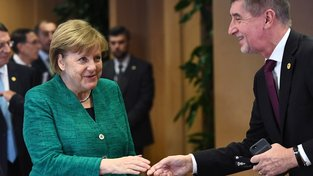 Německá kancléřka Angela Merkelová a český premiér Andrej Babiš