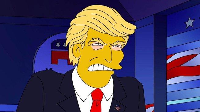 Donald Trump - prezident, který cení zuby na spojence (ze seriálu Simpsonovi, The Simpsons)