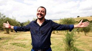 Šéf italské krajně pravicové Ligy Matteo Salvini