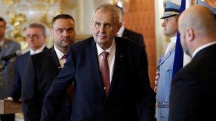 Prezident Miloš Zeman při jmenování české vlády