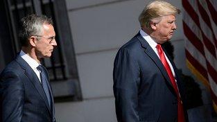 Jens Stoltenberg a Donald Trump