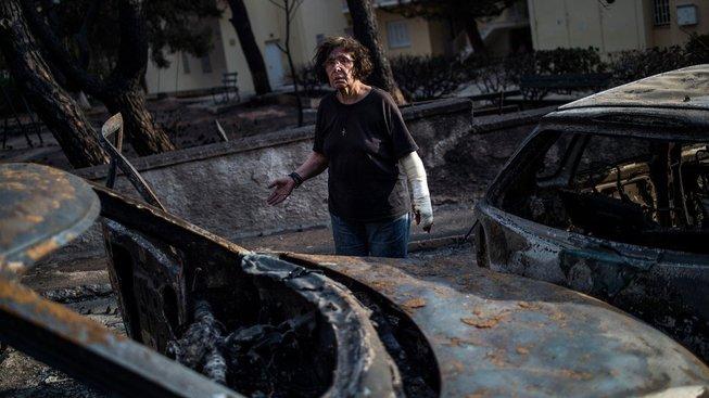 Ve vesnici Mati nedaleko Atén si požár vyžádal nejvíc obětí