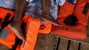 Zachráněná migrantka