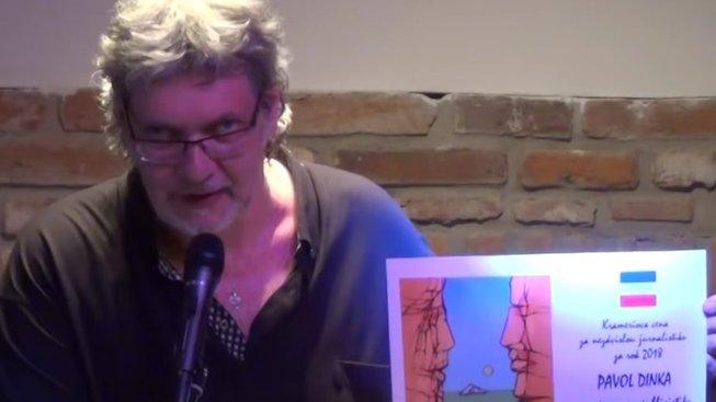 Petr Žantovský při udílení Krameriovy ceny