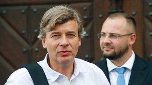 Právník Lubomír Kincl (vpravo) a Martin Junek z družstva Svatopluk