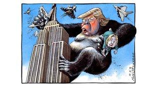 King King Donald už unesl Hillary. Teď se chystá rozbít NATO