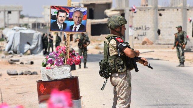 Ruské a syrské jednotky