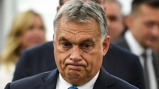 Maďarský premiér Viktor Orbán ve Štrasburku