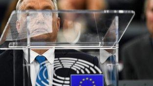 Maďarský premiér Viktor Orbán v europarlamentu ve Štrasburku