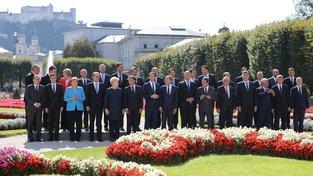 Účastníci summitu EU v Salcburku