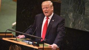 Donald Trump na Valném shromáždění OSN v New Yorku