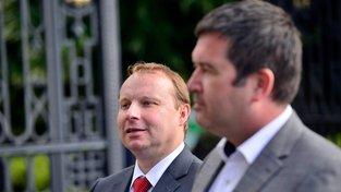 Miroslav Poche (vlevo) a šéf ČSSD a ministr vnitra Jan Hamáček