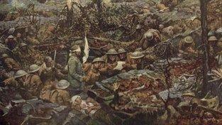 """Ilustrace zobrazující vojáky """"Ztraceného batalionu"""""""