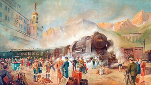 """Orient Express se stal doslova """"vlakovou legendou""""."""
