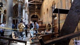 Kostel v Káhiře, krátce po útoku v roce 2016