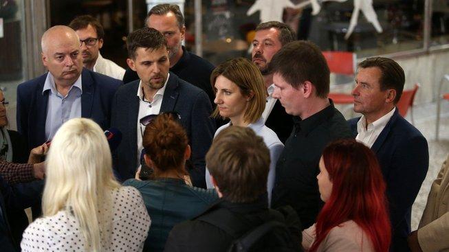 Zástupci ODS, KDU-ČSL, Pirátů a ČSSD v Brně