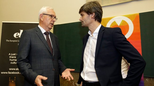 Jiří Drahoš a Marek Hilšer