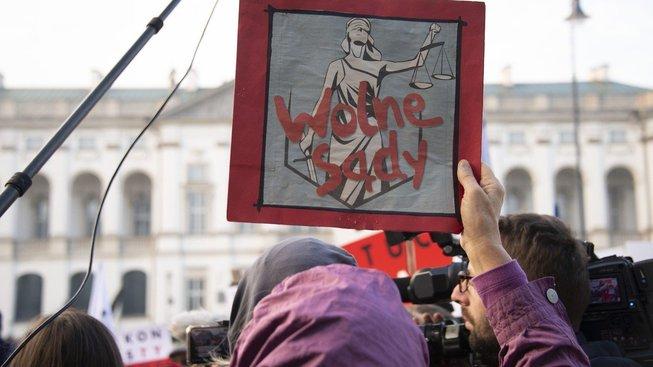 Protesty proti zákonu o Nejvyšším soudu