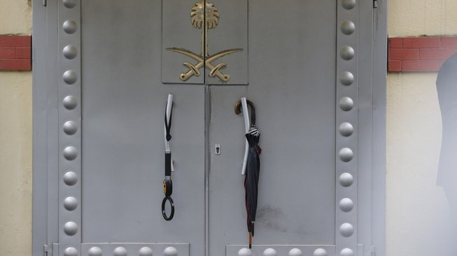 Ambasáda Saúdské Arábie v Istanbulu. Právě tady saúdský novinář zemřel