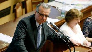 Mezi kritiky plánovaného rozpočtu patří i exministr financí Miroslav Kalousek (TOP 09)