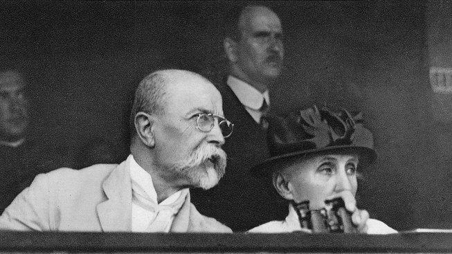 Tomáš Garrigue Masaryk se svou chotí Charlotte