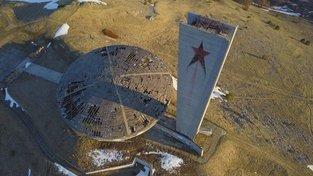 Komunistická stavba Buzludža v Bulharsku