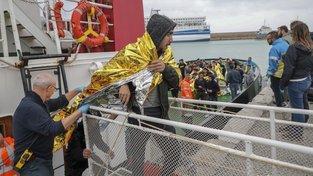 Uprchlíci v italské městě Crotone