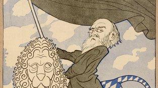 Eisner během revoluce, ilustrace z prosince 1918