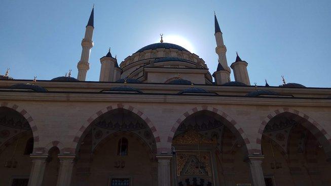 Mešita Srdce Čečenska, postavená před deseti lety na počest Achmata Kadyrova