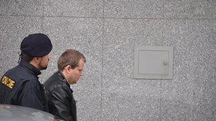 Tomáš Březina během soudního procesu.