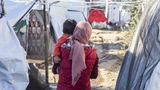 Uprchlický tábor na ostrově Lesbos