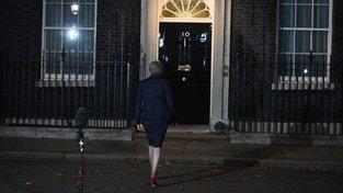 Theresa Mayová po prohlášení k brexitu