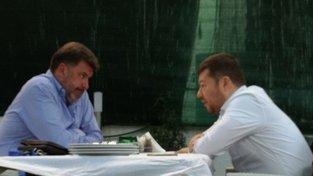 Poradce prezidenta Zemana Martin Nejedlý na schůzce v pražské restauraci s Tomio Okamurou