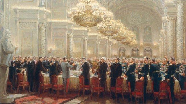 Stalinův slavnostní přípitek na banketu v Kremlu