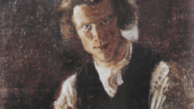 Bohumil Kubišta na autoportrétu