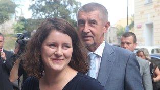 Jana Maláčová a Andrej Babiš