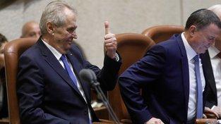 Prezident Miloš Zeman během návštěvy Izraele.