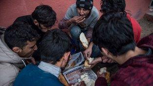 Afghánští migranti v Řecku
