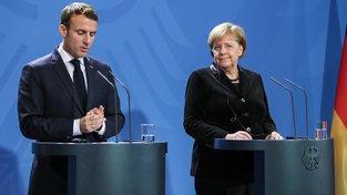 Emmanuel Macron a Angela Merkelová se vyjádřila k důsledkům incidentu v Kerčském průlivu