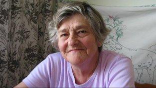Alžběta Dostálová (Morgensternová) vypráví příběh své rodiny včetně vzpomínek na Terezín (září 2010, Mohelnice)
