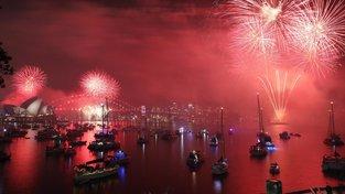 Oslavy příchodu nového roku v Sydney