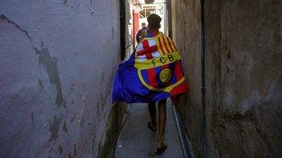 Kubánský fanoušek Barcelony