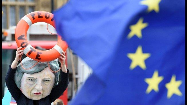 Z úterní londýnské demonstrace
